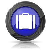 Kufr ikona — Stock fotografie