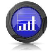 Grafik çubukları simgesi — Stok fotoğraf