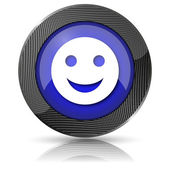 Smiley icon — Stock Photo