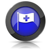 Cross flag icon — Stock Photo