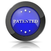 Patented icon — Stock Photo