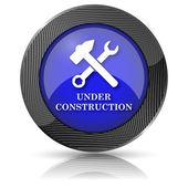 Bajo el icono de construcción — Foto de Stock