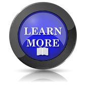 Aprender más icono — Foto de Stock