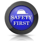 Safety first icon — Foto Stock