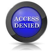 Access denied icon — 图库照片