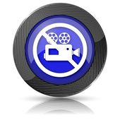 Icono de cámara de video prohibido — Foto de Stock