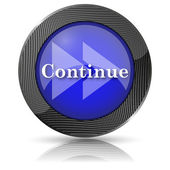Continue icon — Stock Photo