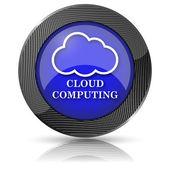 символ облачных вычислений — Стоковое фото