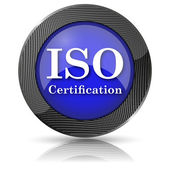ISO certification icon — Stok fotoğraf
