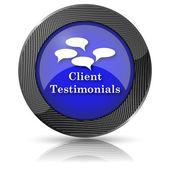 Client testimonials ikonen — Stockfoto