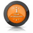 Stockfoto: 1 year warranty icon