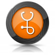 Stethoscope icon — Stockfoto