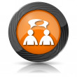 Comments icon - men with bubbles — Zdjęcie stockowe #36164749