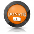 Donate icon — Stock Photo