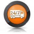 24 7 delivery truck icon — Stockfoto