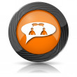 Chat icon - men in bubble — Stockfoto