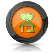 eco house icon — Stock Photo