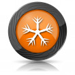 Snowflake icon — Stock Photo