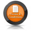 Terms and conditions icon — Stok Fotoğraf #36165899