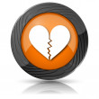 Broken heart icon — Stock Photo #36166053