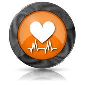 Srdce ikona — Stock fotografie