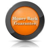 Ikona gwarancja zwrotu pieniędzy — Zdjęcie stockowe