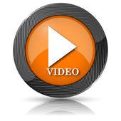 Video play icon — Stock Photo