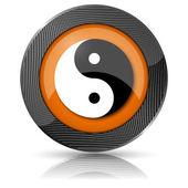 Ying yang ikona — Zdjęcie stockowe