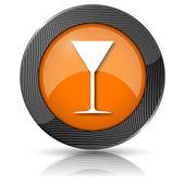 Martini glas ikon — Stockfoto