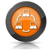 Ikony sieci komputerowych — Zdjęcie stockowe