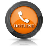 Hotline icon — Stock Photo