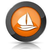 Segelboot-symbol — Stockfoto