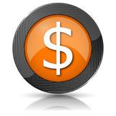 Dollar icon — Stock Photo