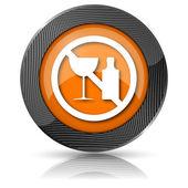 Brak ikony alkoholu — Zdjęcie stockowe