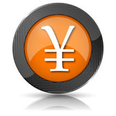 Ikona jenów — Zdjęcie stockowe
