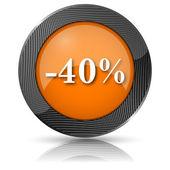Ikona 40 % slevu — Stock fotografie