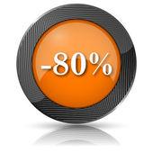 Ikona 80 % slevu — Stock fotografie