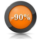 90 % sleva ikona — Stock fotografie