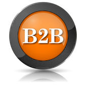 B2B icon — Stock Photo