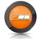 Icona di batteria carica 2 terzi — Foto Stock