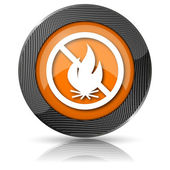 Fire forbidden icon — Foto Stock