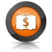 Dollar bag icon — Stock Photo