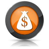Dollar zak pictogram — Stockfoto