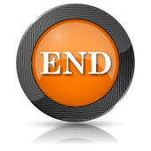 Koniec ikona — Zdjęcie stockowe