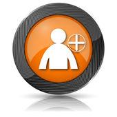 Adicionar o ícone de amigo — Foto Stock