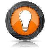 žárovka - myšlenka ikonu — Stock fotografie