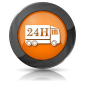 24H delivery truck icon — Foto Stock