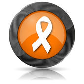 Breast cancer ribbon icon — Stock Photo