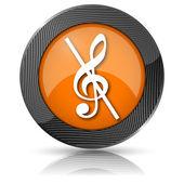 Nota musical - nenhum ícone de som — Foto Stock