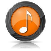 ícone de nota musical — Foto Stock